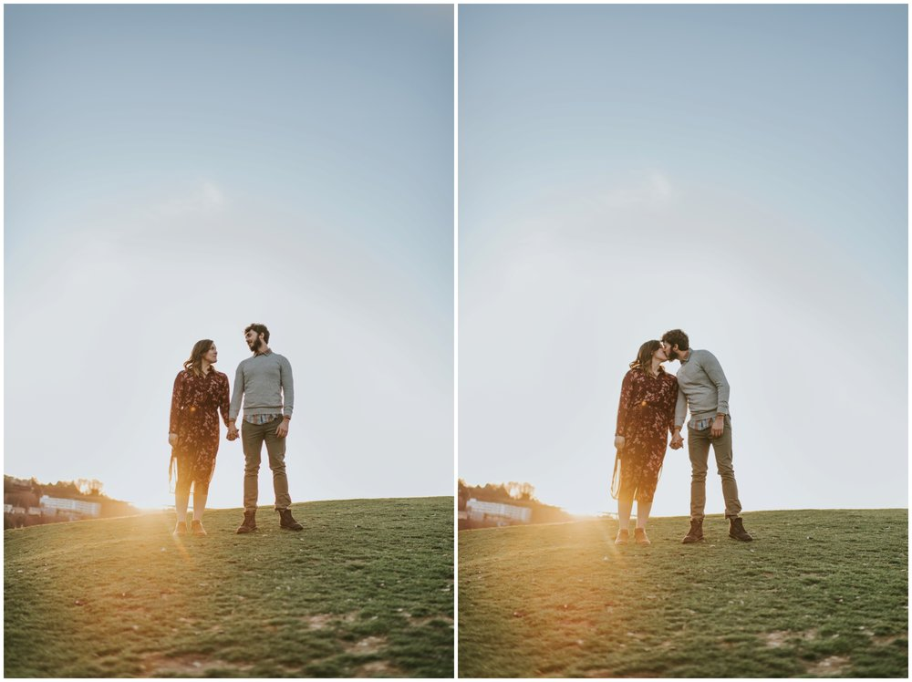 sunset engagement photos at gas works park  | Seattle Engagement Photographer www.riversandroadsphotography.com