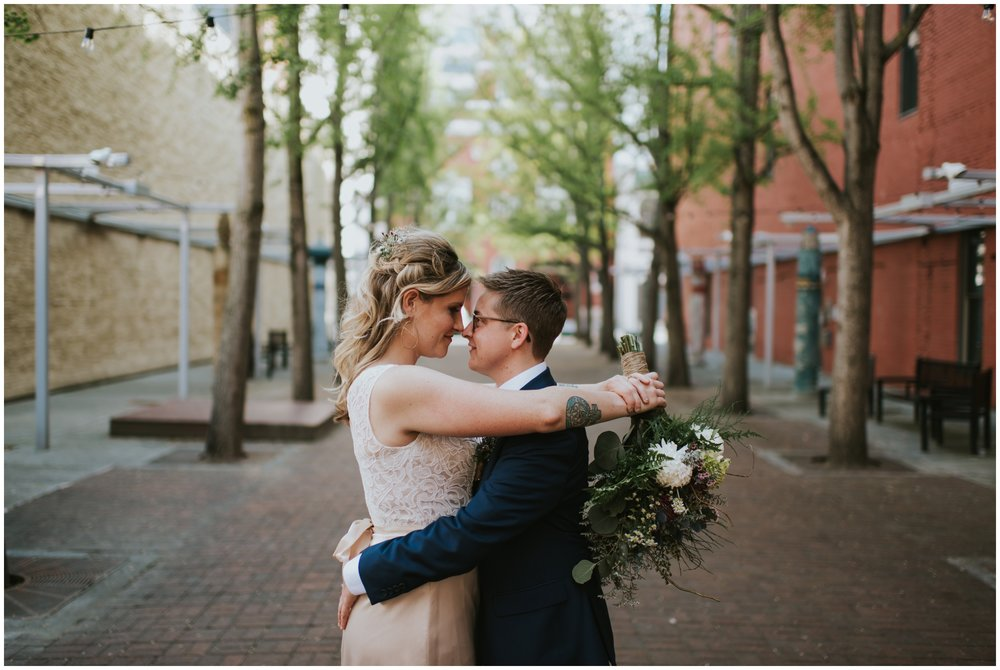 Century Plaza Downtown Roanoke Virginia. Wedding Portraits.  | www.riversandroadsphotography.com