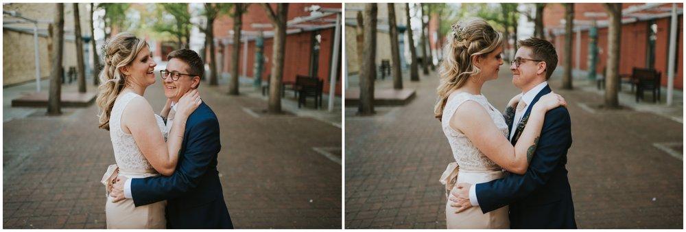 Century Plaza Roanoke Virginia. Wedding Portraits | www.riversandroadsphotography.com