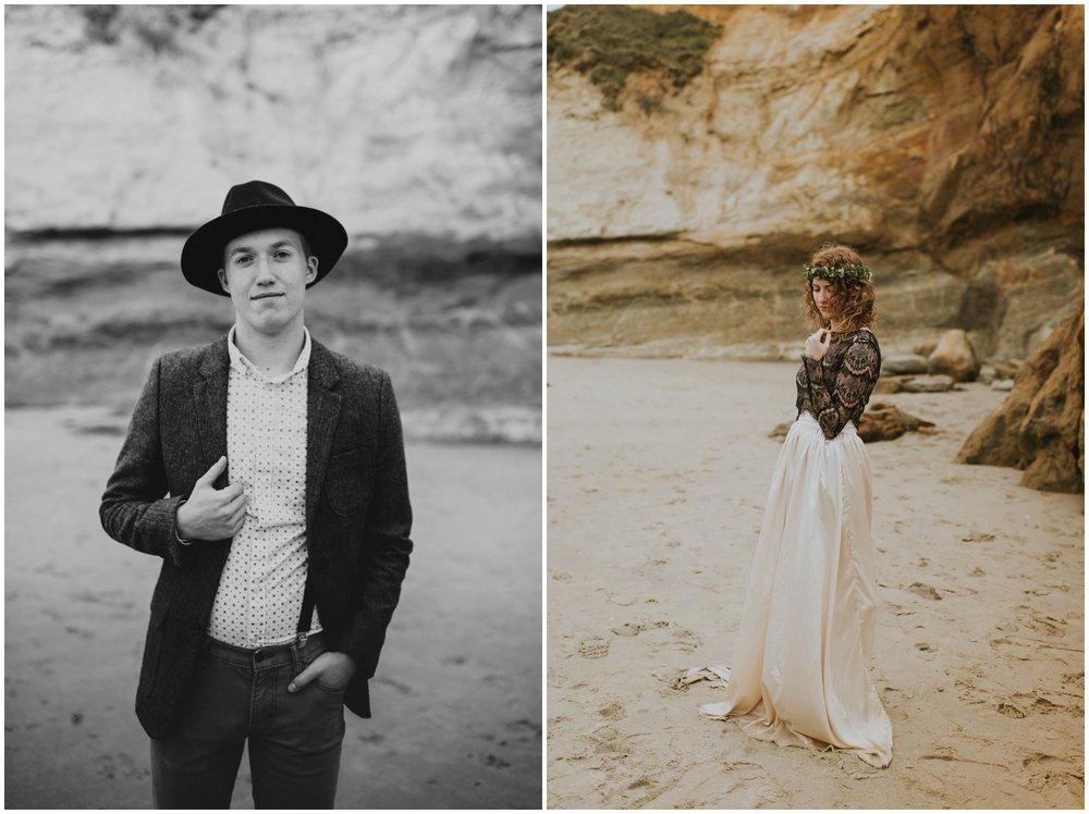 bride and groom portraits cape kiwanda | Oregon Wedding Photographer www.riversandroadsphotography.com