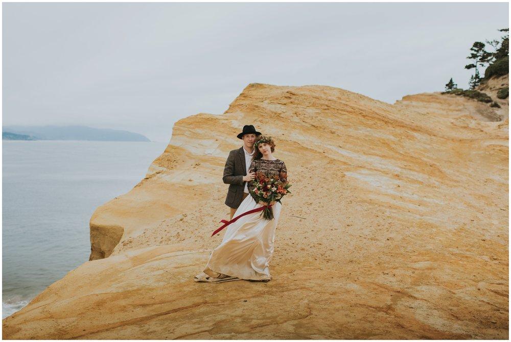 cape kiwanda elopement | Pacific City Wedding Photographer www.riversandroadsphotography.com