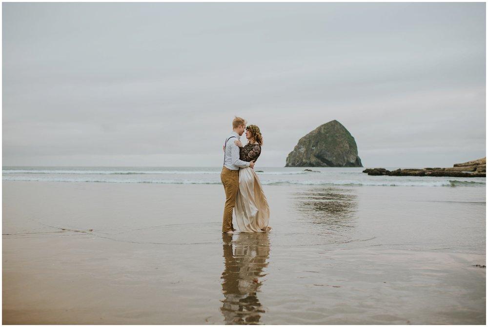 beach wedding, pacific city oregon alkw