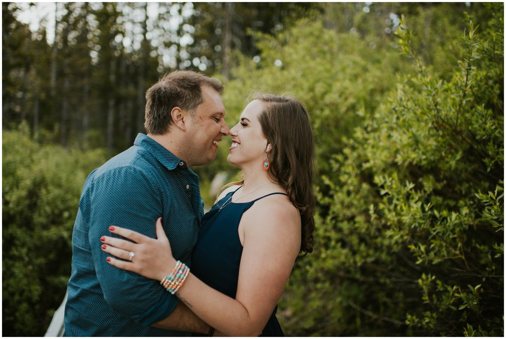 Happy couple. Engagement Photography. Tony Grove Campground. Logan, Utah Photographer