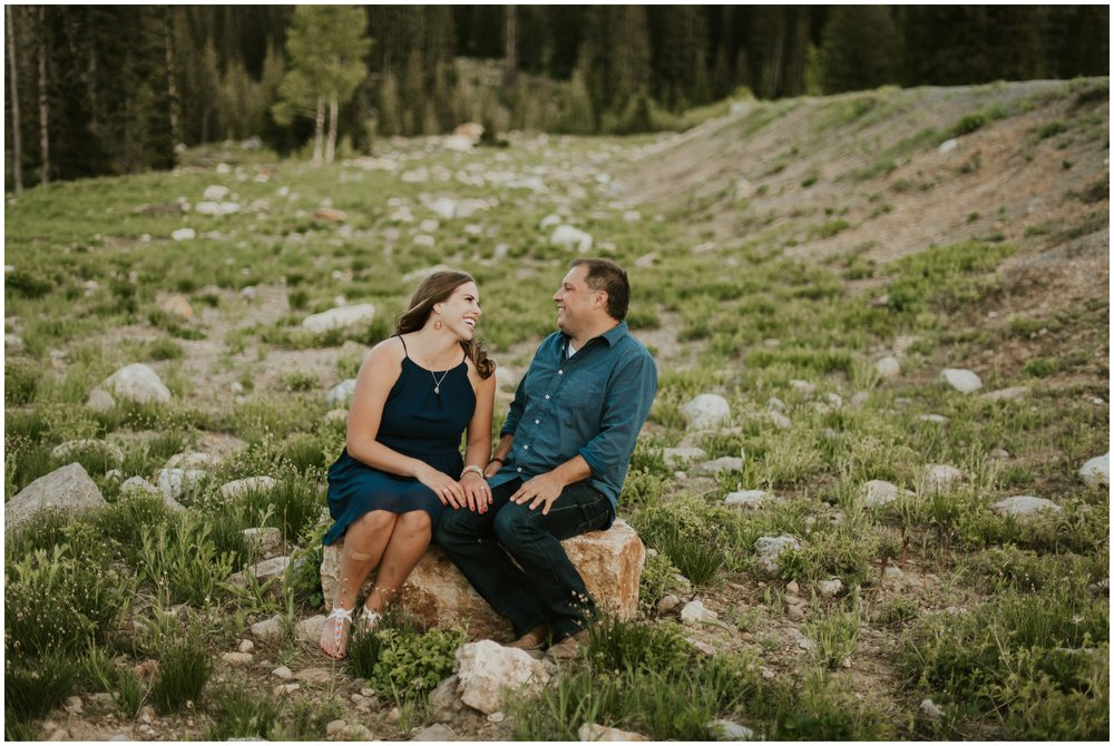 Tony grove lake engagement photographer