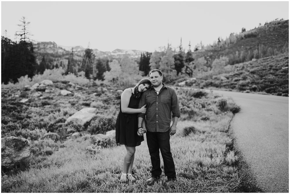 moody black and white engagement session Logan utah photographer