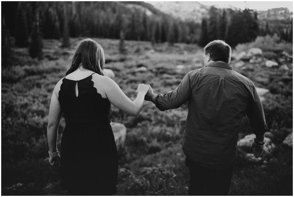 black and white engagement photographer. Logan utah.
