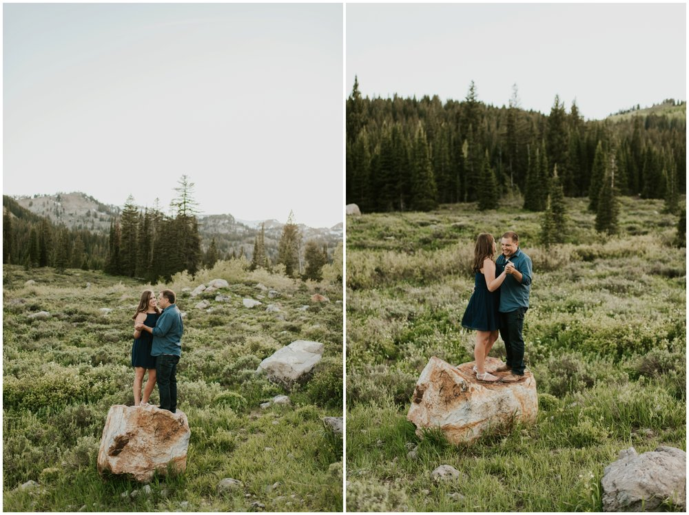 outdoor engagement session. Tony grove campground Logan utah