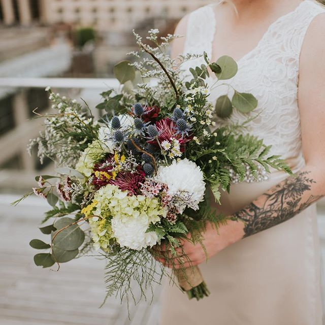The bouquet will always be one of my favorites and the brides friend helped make it! Shout out to all the besties that make weddings more awesome.
