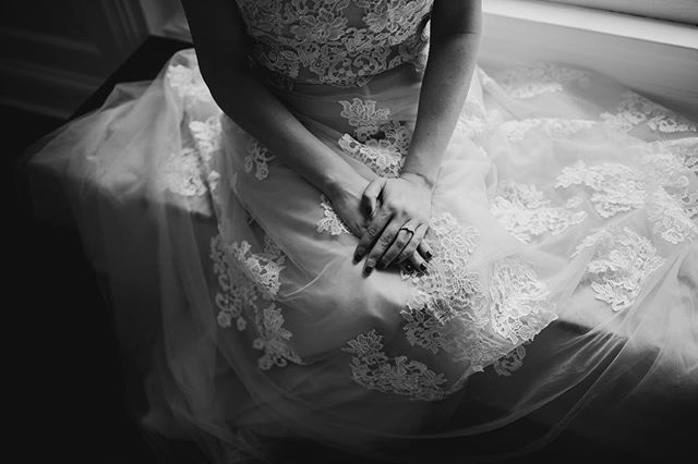 It's rare that you have enough time to really breathe and take in what's happening before your ceremony but any time you can have a quiet moment before going out and seeing the love of your life is so worth taking.