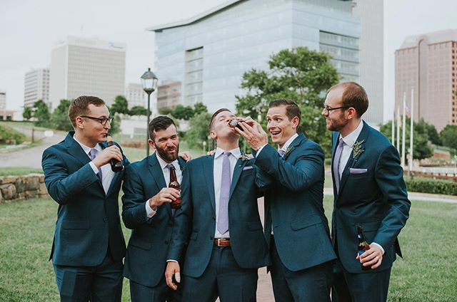 Groomsmen don't get nearly enough attention! These fellas were hilarious and so fun. Forever in love with this wedding 🖤🙌