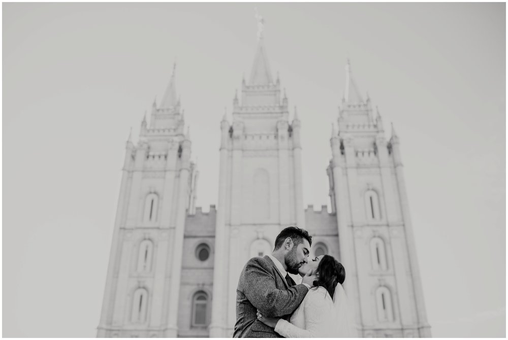 Bride and Groom Portraits at the Salt Lake City, Utah Temple www.riversandroadsphotography.com