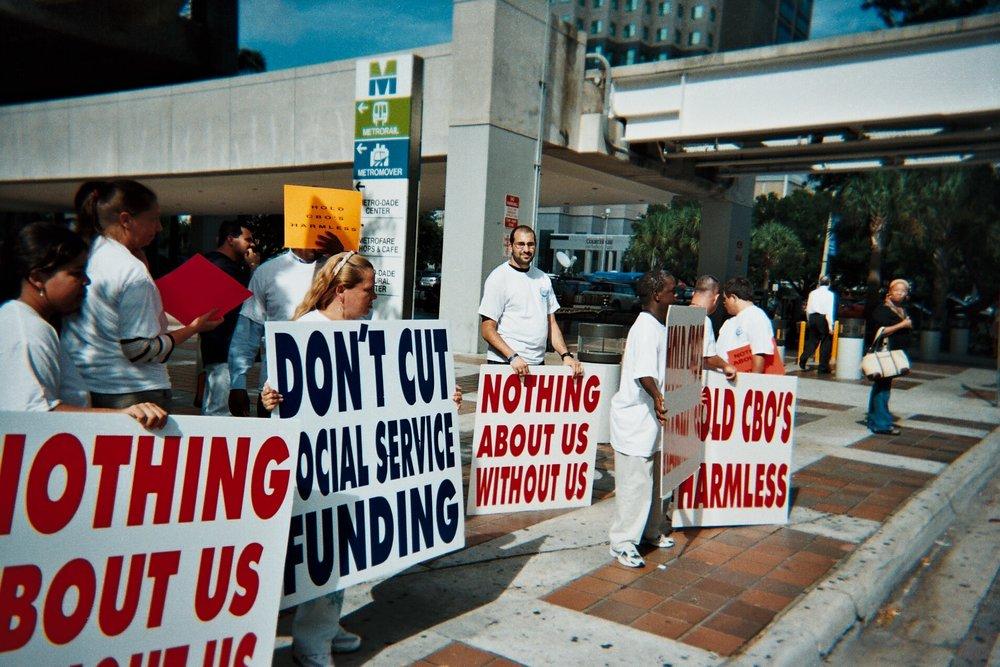 CBO Budget Cut Protest