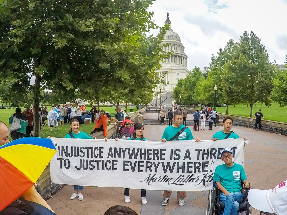 Advocates during the annual March For Our Rights in Washington D.C.