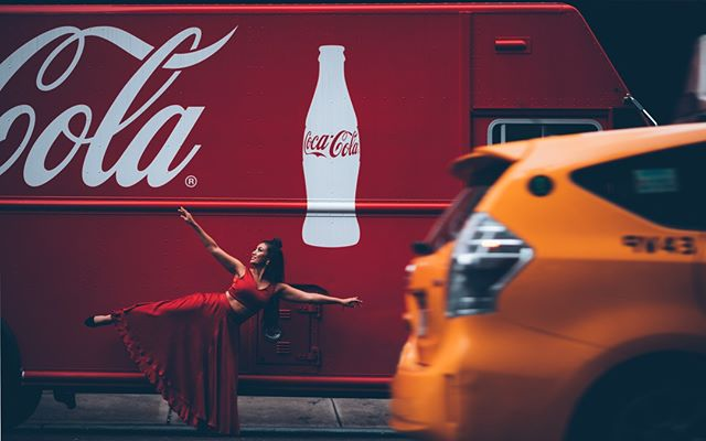 I blend into this background. Coincidence? I think not. 😜. - - 📸 : @satanssj 💄 : @mirandasturce 💁🏽 : @saminaartistry_ 👗: @mayankanandshraddhanigam - #capitalism #cocacola  #photography #art #red #design #fun #yellowcabs #nyc #indianoutfit #danceinthestreets #reachforthedreamsthatcocacolasoldyou -