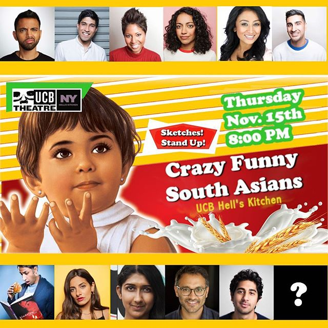 I'll be premiering at UCB this Thursday At 8pm as a part of Crazy Funny South Asians. Created by @alingonmitra (@thedailyshow), the show is packed with some amazing standup comedians and actors who also happen to be funny. 😆🔥😜. We also took over @ucbtny's insta-stories today so head over and check all the #brownmagic in @ucbtny's stories! 😜🙌🏾✨😆 - - - - #ucb #funnyindians #southasians #nycactors #ucb #dailyshow #snl #comedy #funny #standup #comedynight