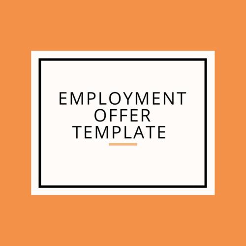 Employment offer template less stress dds employment offer template pronofoot35fo Choice Image