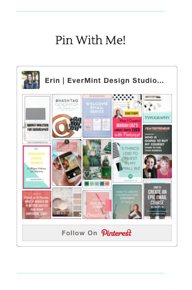 Pinterest feed in sidebar