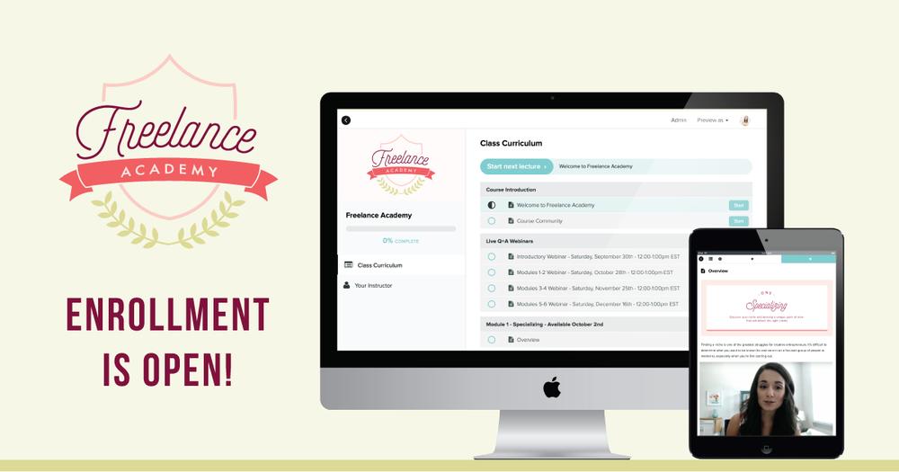 Freelance Academy - Enrollment is Open