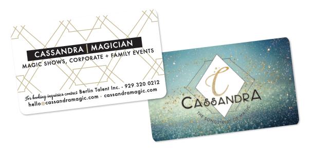 Cassandra, Business Card Design