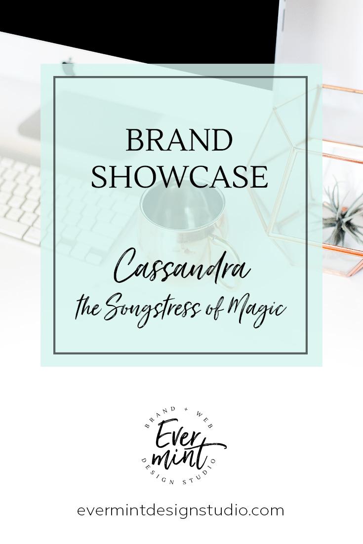 Brand and Squarespace Website Design Showcase for Cassandra