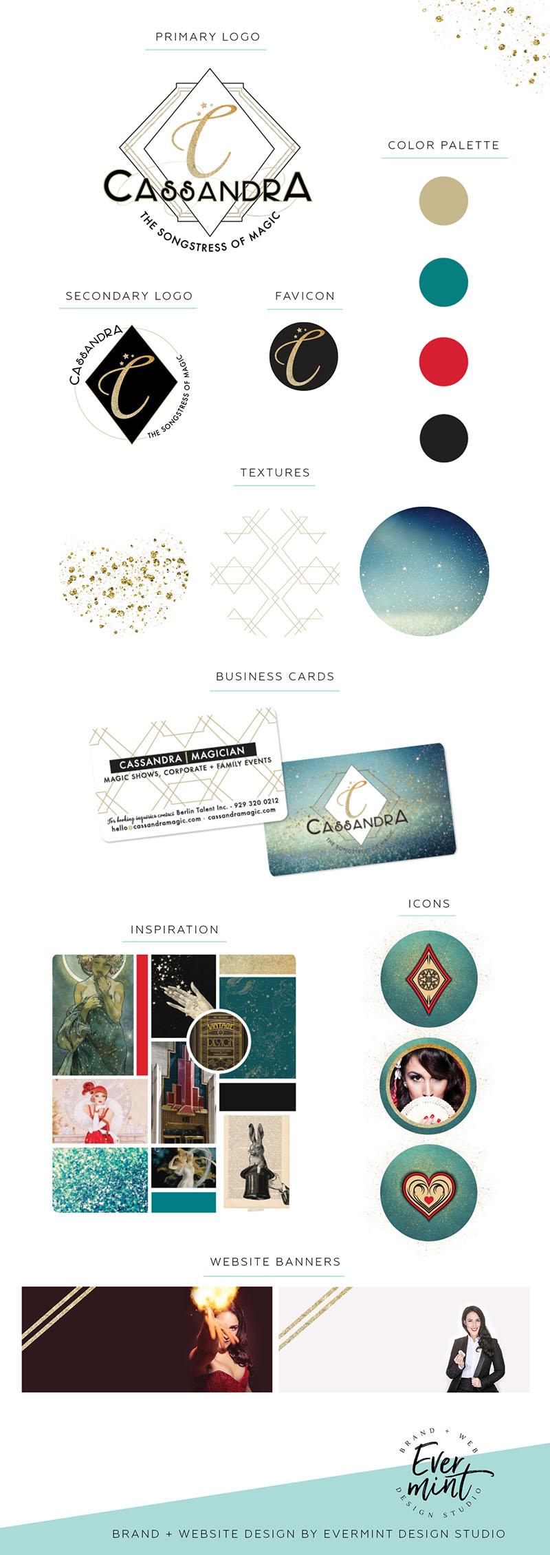 Brand Board for Cassandra, the Songstress of Magic