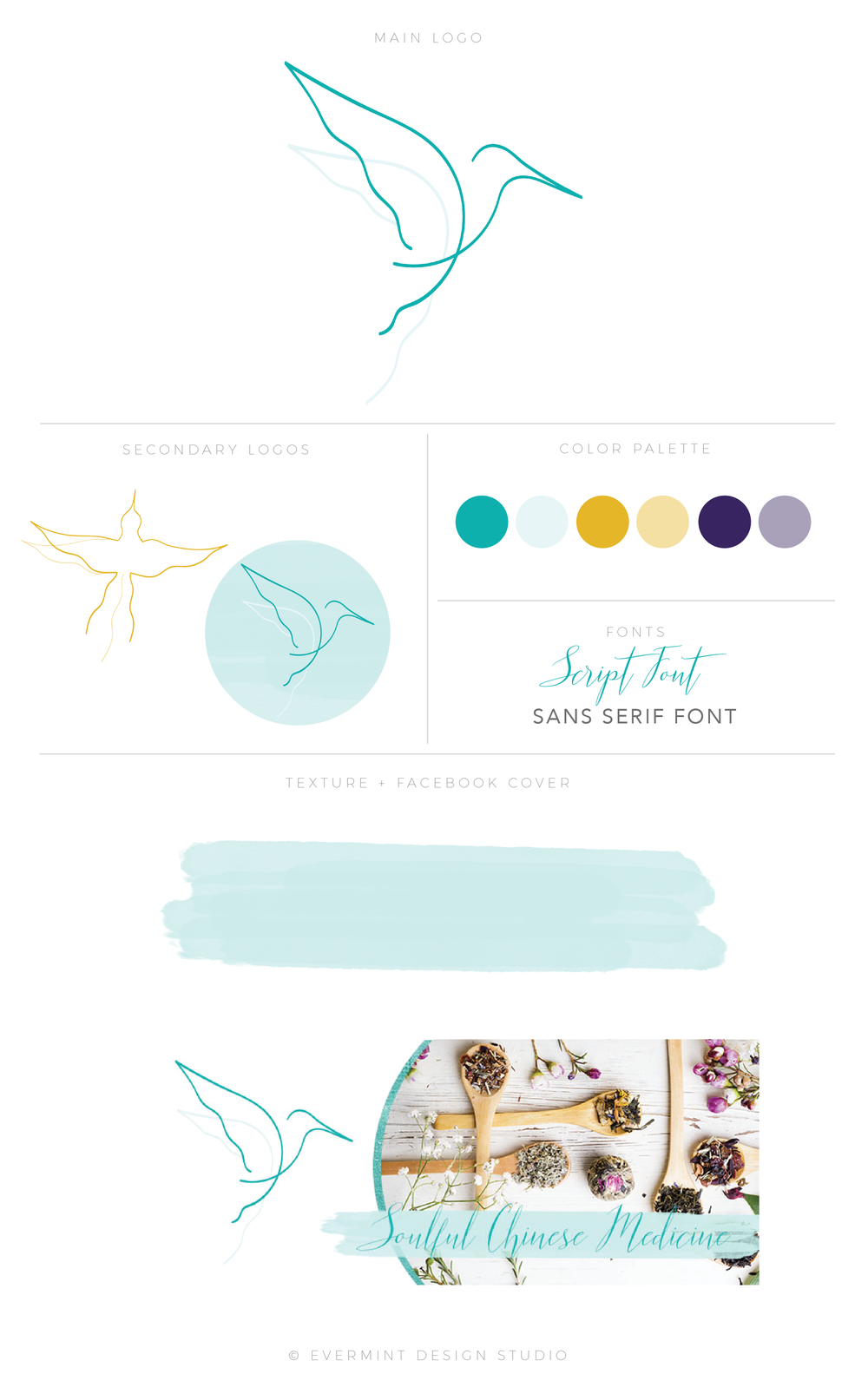 Hummingbird Acupuncture Brand Identity Design - Minot, ND