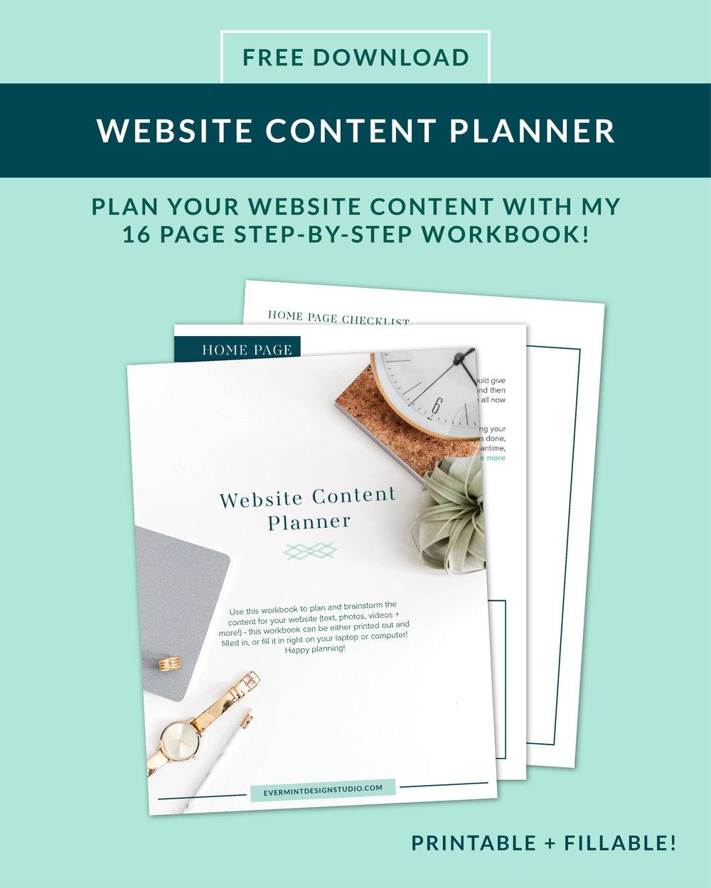 Website Content Planner Workbook
