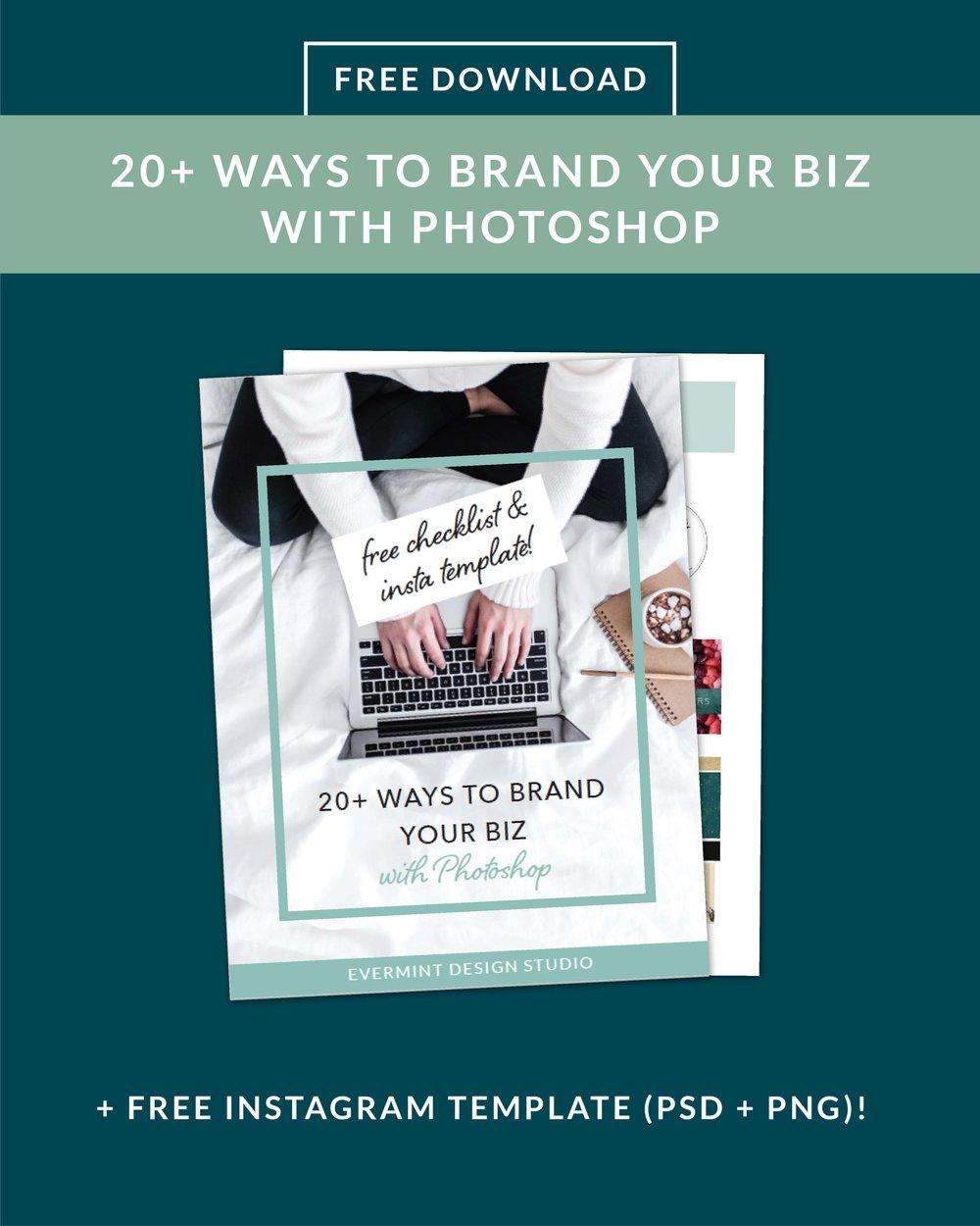 20 Ways to Brand Your Biz with Photoshop checklist
