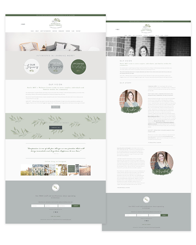 Squarespace Web Design for HarCo MFT