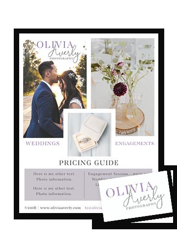 Pricing Guide PDF, Business Card Design
