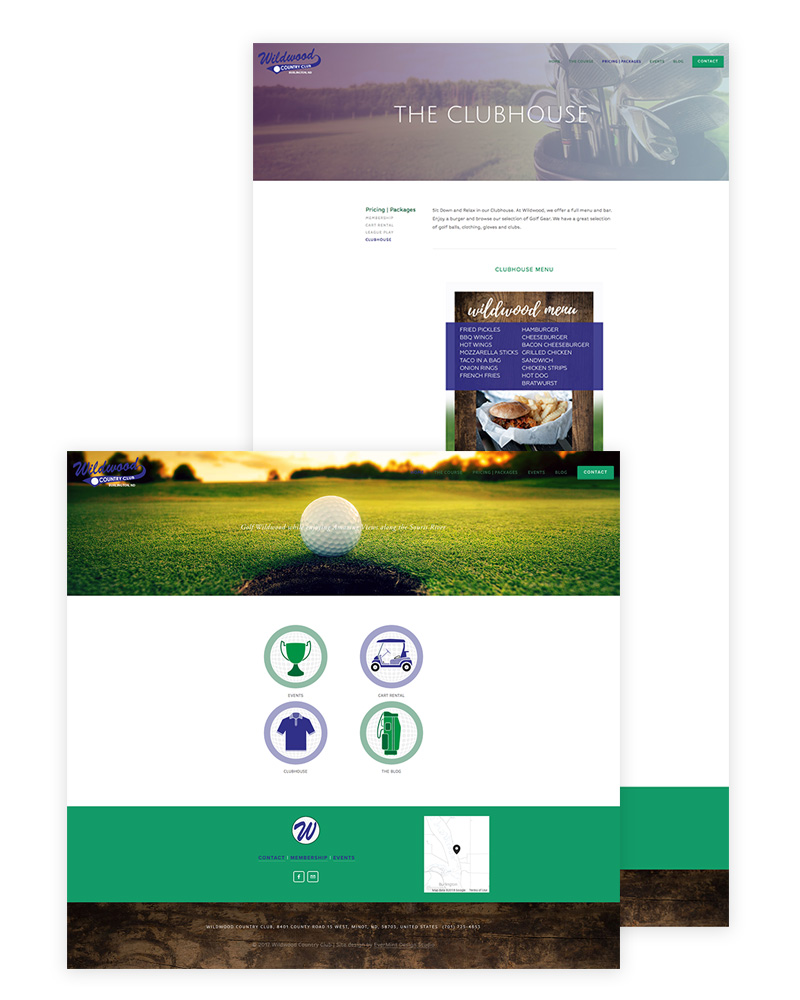 Wildwood Country Club   Squarespace Website Design + Social Media and Blog Post Graphics