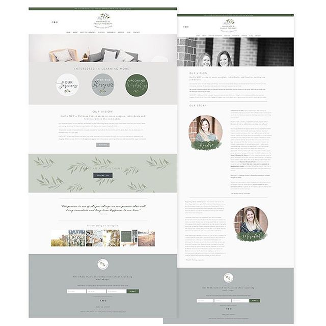 Still in love with this brand design and Squarespace site refresh I created for the talented ladies at @harcomftwellness 😍Their gorgeous photography made my job easy! Check out their therapy and wellness services at www.harcomft.com
