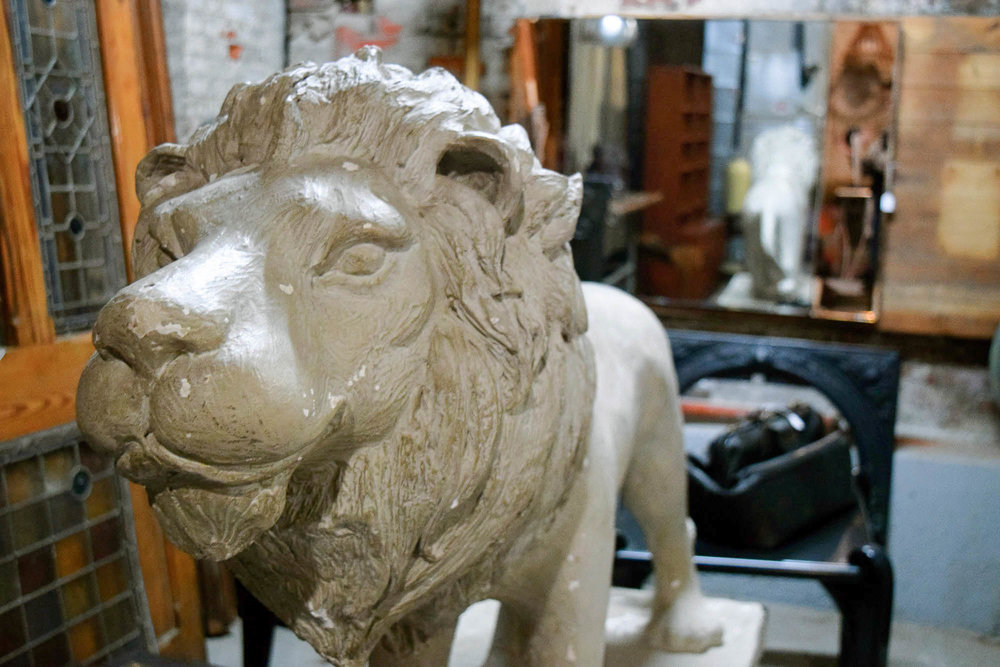 Outdoor Garden Lion Statue | Refindings York, PA | Architectural Salvage & Antiques