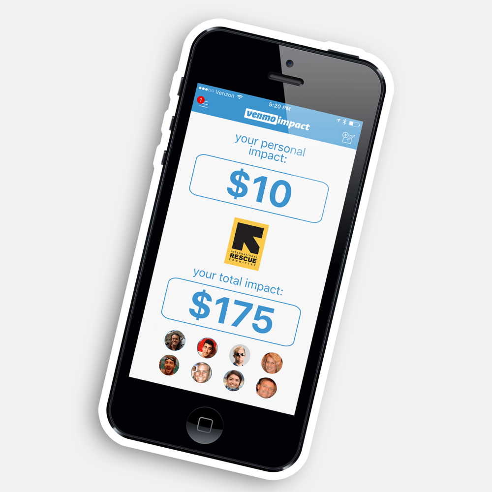 VENMO IMPACT - Product innovation and campaign           Harry Jacobs Award - Richmond Ad Show