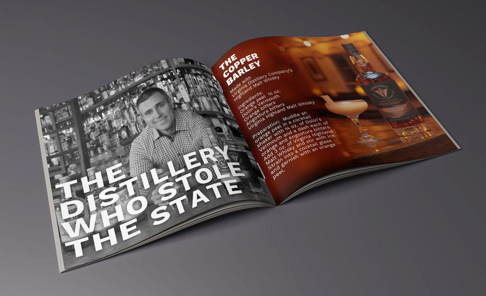 VA Craft Cocktail Guide - The VA Spirits Craft Cocktail Guide is a re-imagination of the typical 'informational brochure' that the public and lobbyists use to educate their representatives.The Guide combines craft cocktail recipes with stories of distillers, economic facts and figures and various important policy points.