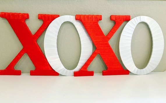 Tightly Wound Designs Decorative Home Decor Traditional Xoxo Letters