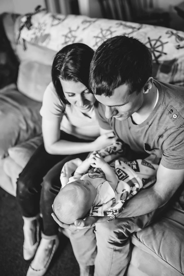 Baby Henry's first day home. Photo Credit: Brittingham Photography