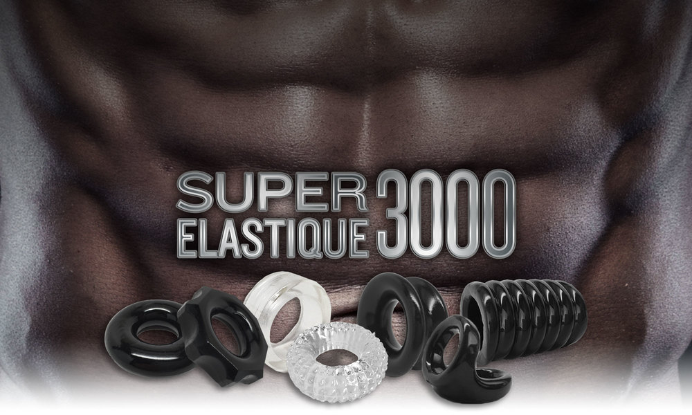 STRETCH-TO-FIT SUPER ELASTIQUE 3000 COMES IN A VARIETY OF INTERESTING SHAPES, IS VERY DURABLE, PROVIDES A GREAT FIT, AND HELPS MAINTAIN EXTRA HARD ERECTIONS.