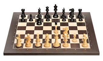 Wengé board with Ebony pieces