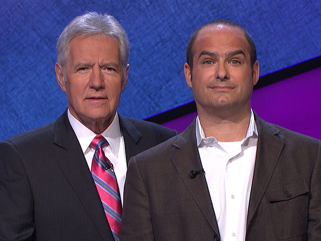 Neal with Alex Trebek