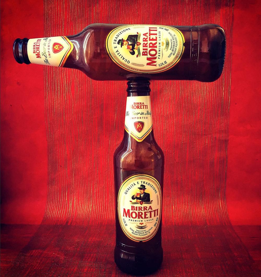 beverage: Moretti Beer
