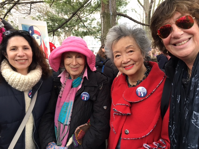 Margaret Atwood & Adrienne Clarkson on the March