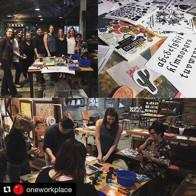#Repost @oneworkplace with @get_repost ・・・ Creative crafting at #terraamico with #apidesign. @bis.bee.here.now hostess with the mostess. #makerspace #havefunmakestamps #studiobyterraamico