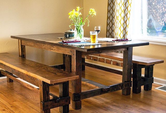 It's almost gathering season! Time to order a beautiful #upcycled #terraamicotable to gather around 🍂 #recycledwood #gather #familytime