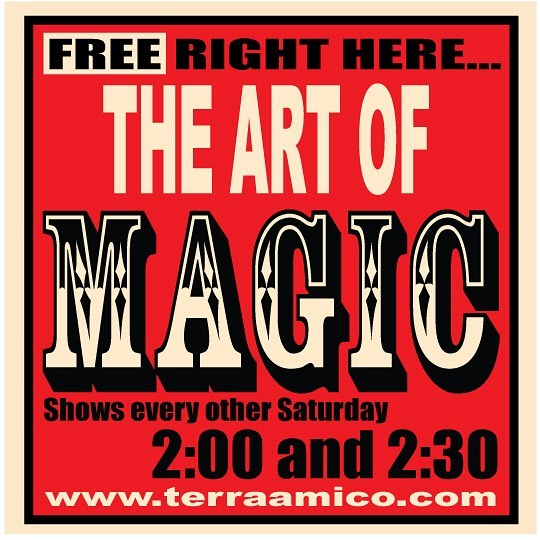 ✨Please come and join us, once again, this Saturday, the 22nd of September, at the #StudiobyTerraAmico, for another delightful showmanship of #magic performed with exquisite artistry. All ages, young and old, are welcome. 🎩David Martinez will be performing two shows, one at 2:00, the other at 2:30. At 3:00 he will show the how-to to a couple of tricks you can practice on your own and use to impress your family and friends. 🥤There will be light refreshments while they last. 🎉And don't forget about the sale we are holding through the end of September! Come for the entertainment and leave with a piece of us 💛 #midtownartsmercantile