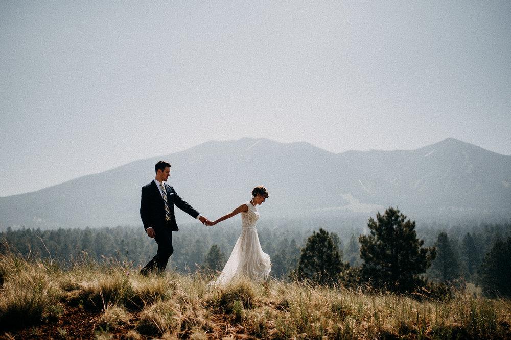 Rachel + Jason  Flagstaff, AZ Wedding