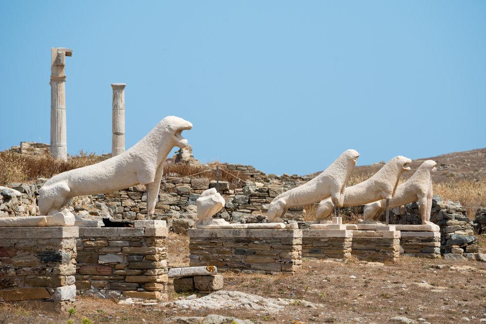 Image; Delos Island UNESCO Site, Greece