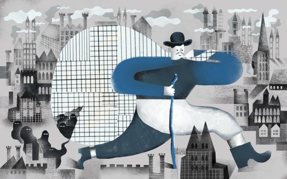 """Karol Banach, illustracja do książki Erny Rosenstein """"Bajki"""" nagrodzona złotym medalem 3x3 International Illustration Show No.12"""
