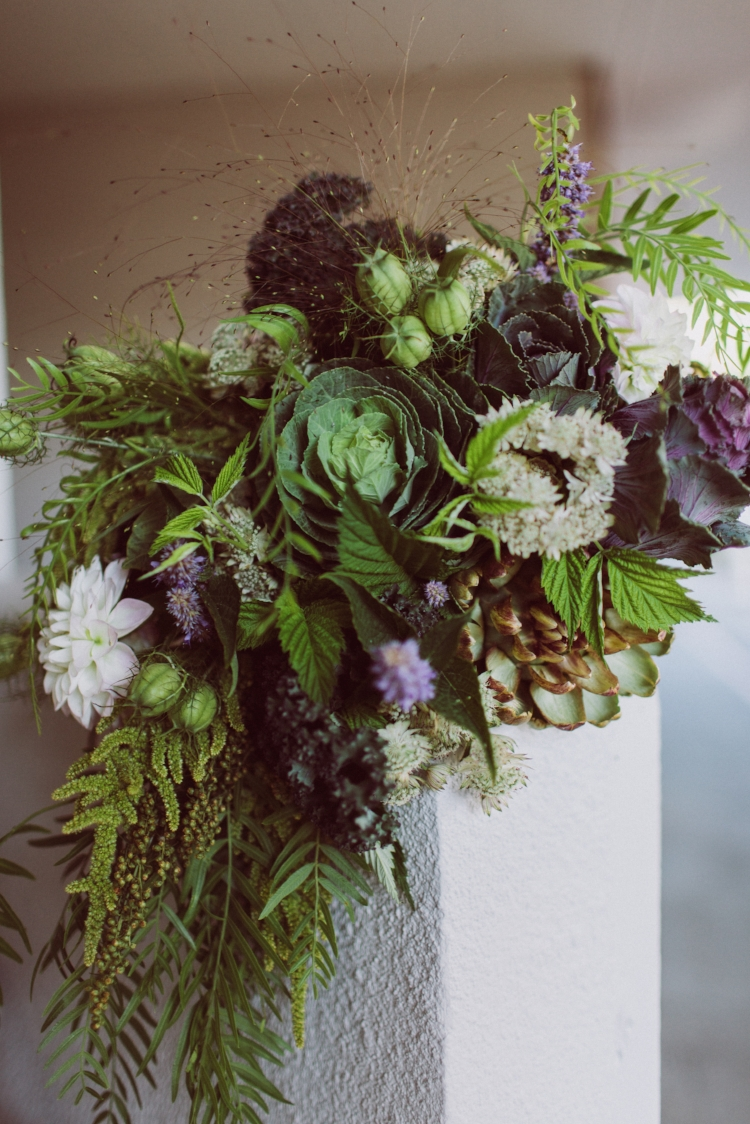 I love kale so much it was even the theme of our wedding. Flowers by Gather Design. Photo by Sparkfly Photography.