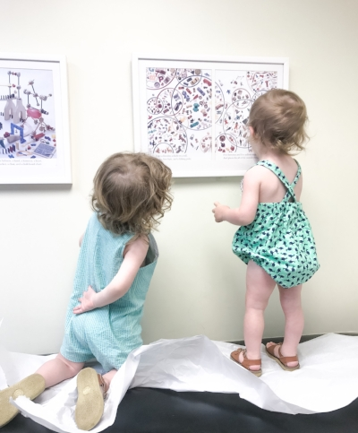 Trips to the pediatrician with two wild toddlers are.... interesting.